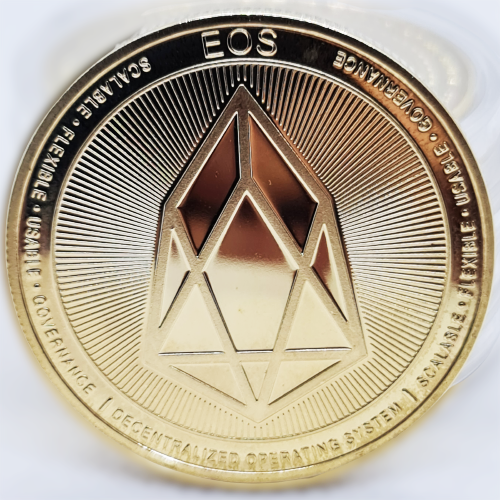 Монета сувенирная EOS позолоченная
