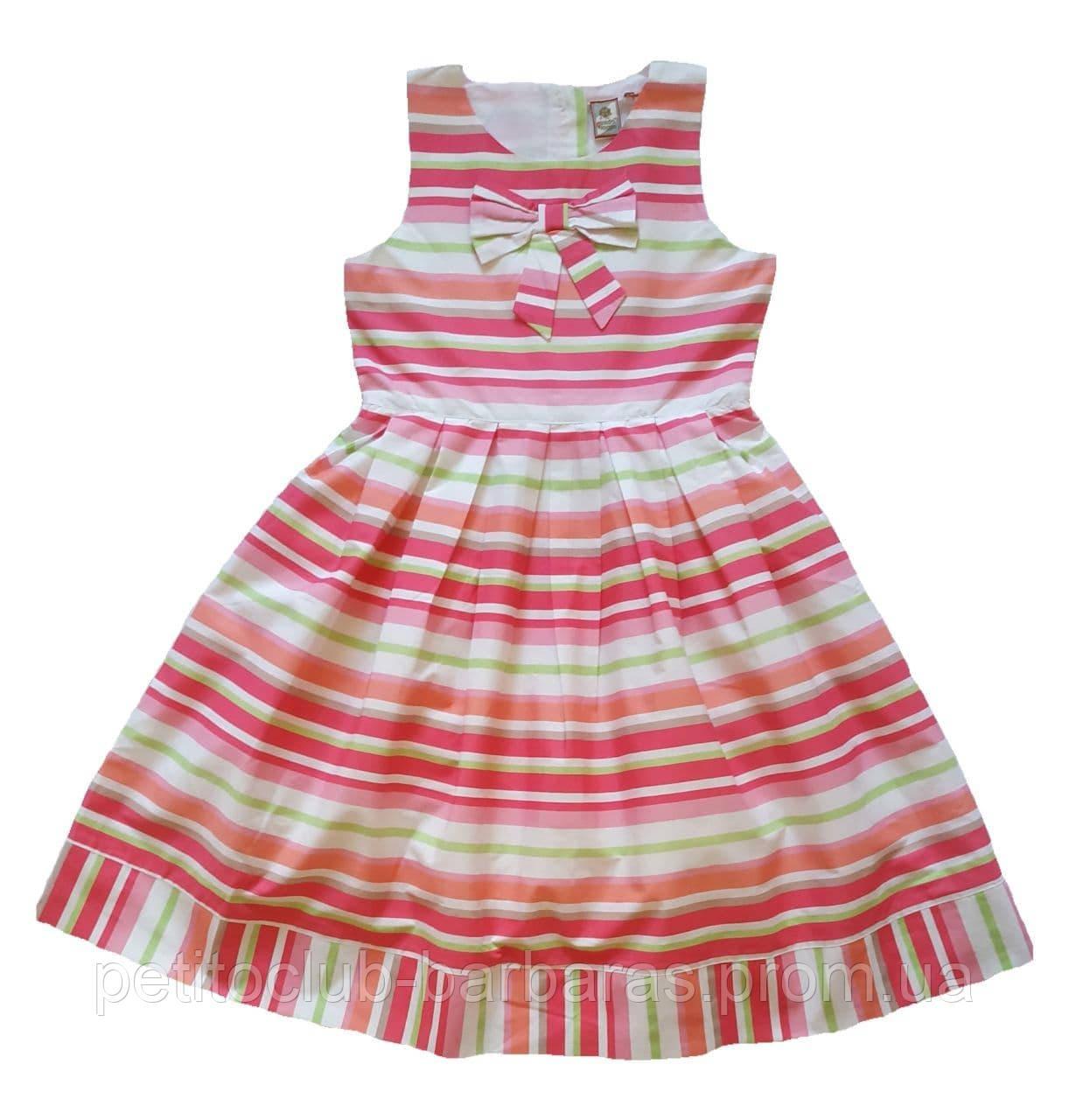 Детское летнее хлопковое платье в полоску (QuadriFoglio, Польша)