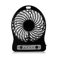 Мини вентилятор mini fan XSFS-01 с аккумулятором Black (200686)