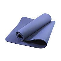 Коврик для фитнеса и йоги TPE Dobetters DBT-YG6 1830х610х60 мм Blue (4742-14076)