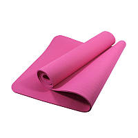 Коврик для фитнеса и йоги TPE Dobetters DBT-YG6 1830*610*60 мм Pink (4742-14078)