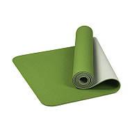 Коврик для фитнеса и йоги TPE Dobetters DBT-YG6 1830*610*60 мм Green (4742-14077)