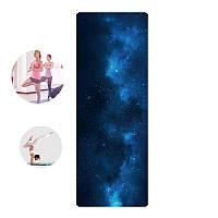 Коврик для фитнеса и йоги Meileer rubb-22 Звездное небо 1830*680*4mm (4815-14088)