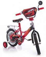 Велосипед Mustang Тачки 14 дюйма с  корзинкой