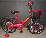 Велосипед Mustang Тачки 14 дюйма з кошиком, фото 3