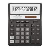 Калькулятор Brilliant BS-777ВК, 200х157х31мм, 12 розрядів, чорний