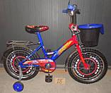 Велосипед Mustang Тачки 18 дюйма с корзинкой, фото 3