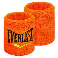 Напульсник для тенниса, махровый напульсник Everlast (1шт) BC-5755, Салатовый Оранжевый