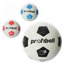 Гумовий футбольний м'яч розмір 4, Grain 290гр., сітка, в кул. VA 0008 (30)