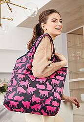 Отзывы (4 шт) о Faberlic Cумка складная Забавные котики цвет чёрно-розовый Lovely Moments арт 910169