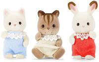 Сильваниан фэмилис Малыши друзья кролик котенок бельчонок Sylvanian Families Calico Critters Baby Friends