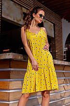 Женское платье, штапель, р-р 42; 44; 46; 48 (желтый)