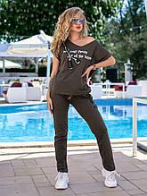 Женский спортивный костюм, 100% коттон, р-р С; М; Л (хаки)