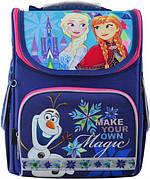 Рюкзак ортопедичний | Рюкзак шкільний каркасний 1 Вересня H-11 Frozen blue, 33.5*26*13.5