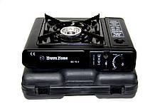Портативная газовая плита в чемодане  Happy Home с переходником