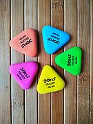 Резинка стиральная  DM-027 48 шт 1/2304/48   Ластик треугольный цветной  