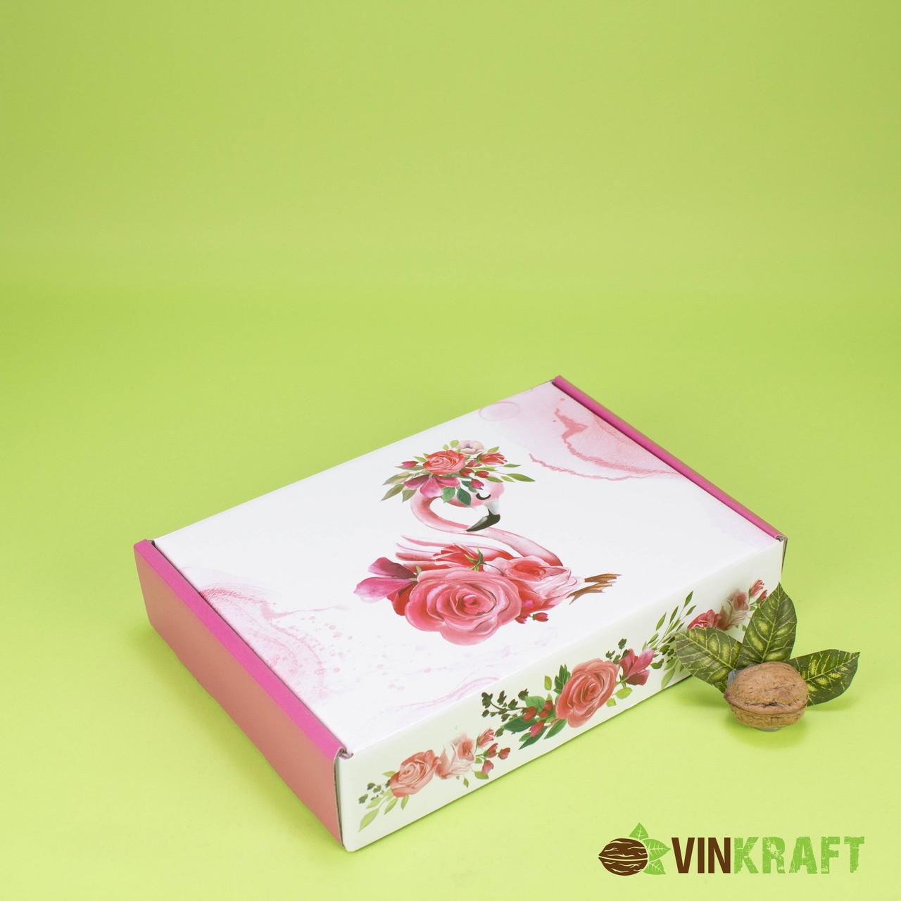 """Подарочная коробка 235*165*50 """"Фламинго"""""""