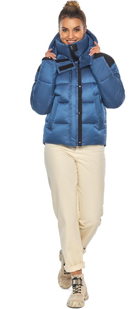 Куртка женская стильная аквамариновая модель 57520