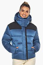 Куртка жіноча стильна аквамаринова модель 57520, фото 3