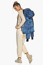 Куртка жіноча стильна аквамаринова модель 57520, фото 2