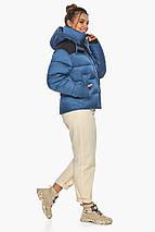 Куртка женская стильная аквамариновая модель 57520, фото 3