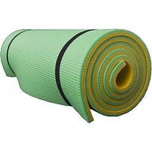 Коврик туристический (каремат в палатку и под спальный мешок) OSPORT Tourist 10мм (FI-0082) Желто-зеленый