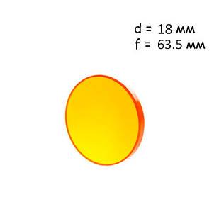 Линза фокусирующая для лазерного станка 18мм f/63.5мм ZnSe, Cloudray
