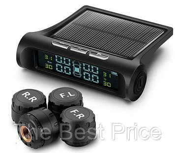 Система контролю тиску і температури в шинах TPMS з датчиками і сонячною панеллю (7582)