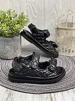 Модные детские босоножки лето 2021 черные для девочек р.25-30!!! ТМ Doremi