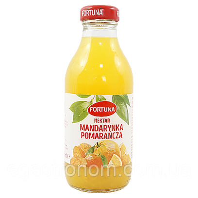Сік-нектар Фортуна aпельсин-мандарин Fortuna mandarynka-pomarancza 300g 15шт/ящ (Код : 00-00004406)