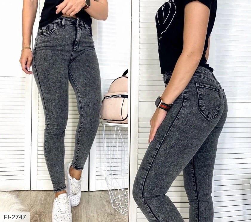 Приталенные молодежные стильные джинсы серые американка р-ры 26,27,28,29,30,31 арт 9877