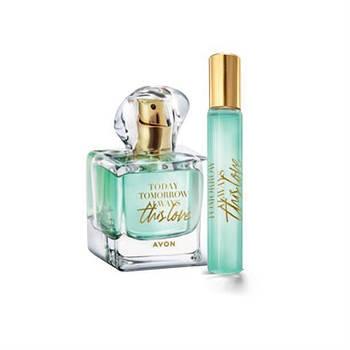 Набор парфюмерная вода Avon This Love, 50 мл + вода, 10 мл