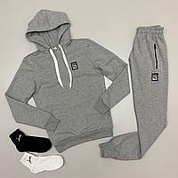 Топовый спортивный костюм Puma унисекс. худи-штаны (2 пары носков в подарок)