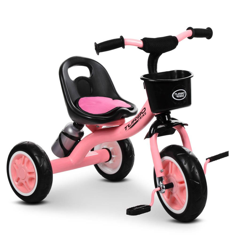 """Дитячий велосипед """"Гномик"""" триколісний Turbotrike (рожевий) арт. 3197-7"""