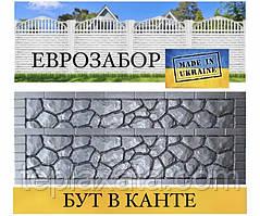 Європаркани глянцевий «Бут в канті» сірий, 2000х500 (Харків)