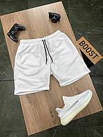 Чоловічі шорти білі, молодіжні стильні модні шорти, спортивні літні шорти зручні Asos Dekka Shafl