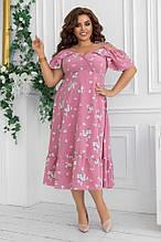 Красивое платье женское Софт Размер 48 50 52 54 В наличии 2 цвета