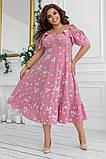 Гарне плаття жіноче Софт Розмір 48 50 52 54 В наявності 2 кольори, фото 5