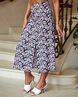 Женская юбка летняя в цветочек 1211 (40 42 44 46 48) СП, фото 1