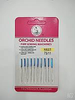 Иглы для бытовых швейных машин  №75  ORCHID NEEDLES  цена за упаковку из 10 штук