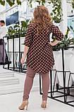 Гарний костюм жіночий Шифонова туніка і джеггінси Розмір 48 50 52 54 56 58 В наявності 3 кольори, фото 3