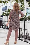 Гарний костюм жіночий Шифонова туніка і джеггінси Розмір 48 50 52 54 56 58 В наявності 3 кольори, фото 6