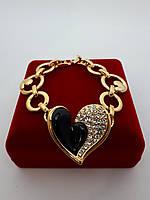 Браслет в форме сердца Viennois, под золото