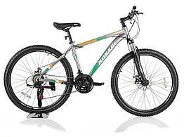 """Велосипед KONAR KA-26""""17, алюминиевая рама 17, колеса 26 дюймов, зелено-серый"""