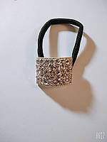 Резинка тонкая с металлическим украшением со стразами, фото 1