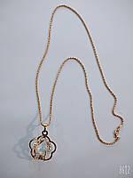 Крупный кулон на длинной цепочке, металл под золото, длина цепочки 75см., фото 1