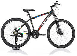 """Велосипед KONAR KA-26""""17, алюминиевая рама 17, колеса 26 дюймов, черно-красный"""