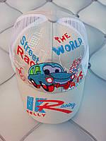 Кепка мальчику Racing Kelly, р. 48-50 (1-2 года), хлопок, светло-серый