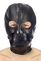 Капюшон з кляпом для БДСМ Fetish Tentation BDSM in hood leatherette with removable gag