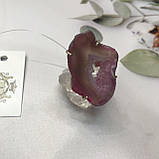 Агат 18,5 р. агатовая жеода кольцо с камнем жеода агата в серебре Индия, фото 2